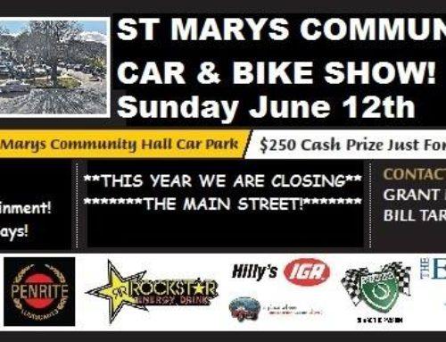 [Tas] 12th June 2016 – St Mary's Community Car & Bike Show