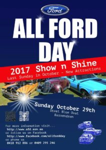 [WA] Sunday 29th October - Western Australia All Ford Day